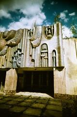Pripyat, Music School (St Prie) Tags: crossprocessed 35mmfilm vivitarultrawideandslim vuws rolleicrossbird