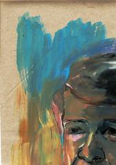 PUZZLE DE RETRATO (4) (GARGABLE) Tags: portrait sketch retrato puzzle papel acrilico cartulinas pigmentos uskspain gargable angelbeltrn