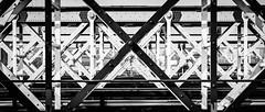 The Other Side Of The Line (Sean Batten) Tags: street city bridge england urban blackandwhite bw london 50mm nikon df unitedkingdom streetphotography railway gb hungerfordbridge