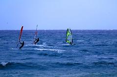 ...tre surfisti... (M a r i S ) Tags: blue sea three windsurf