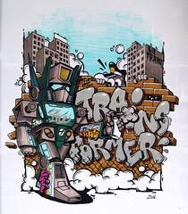 THE TRAINSFORMER (La Franz) Tags: street girls black art train graffiti robot sketch artwork sketching sketchbook transformers franz trainstation marker markers cartooncharacter blackbook graffitiart markerart sprayart robotic pantone comicart posca streetstyle urbanwalls sketchart urbanstyle uniposca graffitistyle graffitigirls graffitiyard sketchmarker lafranz graffitiporn graffporn graffitifranz sprayzzers