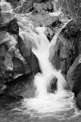 Bickmore_Kiley016 (kileybickmore) Tags: bw waterfall slowshutter greenbelt idahofalls blurredmotion