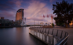 Salford Quays-12 (benjaminjohnson1983) Tags: bridge sunset water flickr footbridge salfordquays 2016 thelowry manchestershipcanal greatermanchester 10stop salfordquays2016