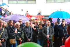 "somber audience at Plymouth Stands with Orlando Vigil • <a style=""font-size:0.8em;"" href=""http://www.flickr.com/photos/66700933@N06/27474746970/"" target=""_blank"">View on Flickr</a>"