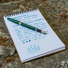 Sheaffer Snorkel Saratoga (kitchener.lord) Tags: ink snorkel saratoga pens stationery sheaffer rhodia 2016 diamine xf27 havasuturquoise
