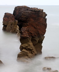 A Sea Troll (PeskyMesky) Tags: longexposure mist rock canon scotland outdoor pov pointofview aberdeen le northsea seastack balnagask northeastscotland canoneos500d greyhopebay