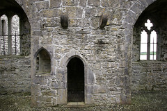 Rosserk Friary wall (backpackphotography) Tags: ireland ruins ruin carving mayo carvings friary franciscan rosserkfriary rosserk backpackphotography