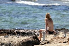 DSC_0196 (sheen_kosh) Tags: beach beauty bikini topless formentera
