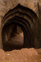 A tunnel entrance in Vijaydurg Fort (keyaart) Tags: fort konkan vijaydurg