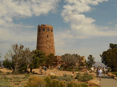 Watchtower (jakes-photos) Tags: grand canyon cloud clouds tree trees tower watchtower people sand desert
