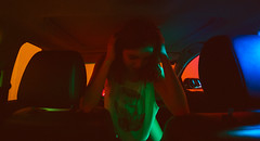 That Moment (Luis Montemayor) Tags: arerojas girl woman mujer chica car carro sexy colors colores lights luces