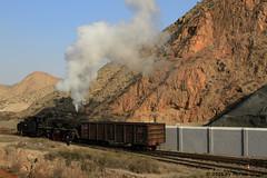 I_B_IMG_8096 (florian_grupp) Tags: asia china steam train railway railroad bayin lanzhou gansu desert landscape loess mountains sy ore mine 282 mikado steamlocomotive locomotive