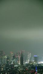 The cloud amount of Tokyo is 300m. (sapphire_rouge) Tags:   sculpture  darkness   girl night tokyotower japanese yukata tokyo   nightview roppongi shinjuku  japan  nighview illumination lady
