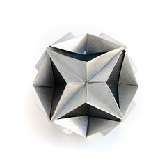 Little Universum #kusudama #origami (_Ekaterina) Tags: origami kusudama unitorigami modularorigami paper paperfolding kraft black gray silver ekaterinalukasheva
