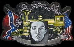2014- EL MAQUINISTA DE LA GENERAL 110x72-fondo negro (federicoromagueramorant) Tags: silentmovie federomaguera grandcinma thegeneral busterkeaton