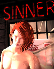 Sinner (niki wirefly) Tags: fae fairy male fairey fantasy dark secondlife logo wings niki sl