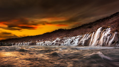 Clearwater (KasparsDz) Tags: sunset nature landscape waterfall iceland spring