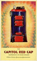 The Capitol Red Cap: Masterpiece of Round Boilers, 1928 (Alan Mays) Tags: ephemera catalogs covers advertising advertisements ads paper printed capitol capitolredcap redcap boilers roundboilers unitedstatesradiator unitedstatesradiatorcorporation radiators manufacturers companies equipment apparatus machinery devices flames flaming illustrations borders red blue yellow detroit mi mich michigan 1928 1920s antique old vintage typefaces type typography fonts
