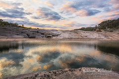 Pedernales Falls Sunset Reflection