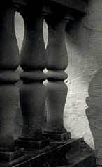 Balustrade in Shade (Revisited) (JeffStewartPhotos) Tags: blackandwhite bw ontario canada blackwhite toned balustrade parkwood oshawa balusters parkwoodestate
