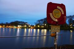 River at morning (jakob_dombrowski) Tags: morning night river germany lights münster