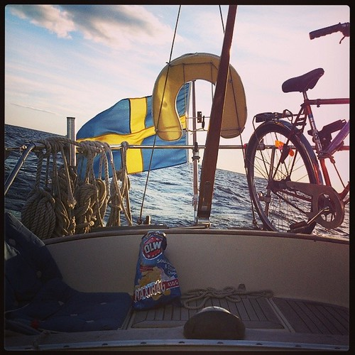 Kvällstur till Kristinehamn #oe32 #segelbåt #windpowered_se...