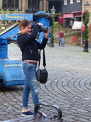 Woman Photographer (Kombizz) Tags: uk london nikon photographer jean candid dslr riverthames camerabag thamesriver womanphotographer nikonuser clunkclick happyphotographer kombizz nationwideplatforms 1080640 thedickenssuite