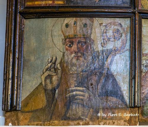 Pertosa (SA), 2015, Chiesa di Santa Maria delle Grazie: polittico del XVI sec..