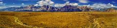 Red Rock Valley Panorama (evanffitzer) Tags: redrockcanyon panorama mountains photography photographer desert lasvegas vista peaks evanffitzer evanfitzer fujix100s