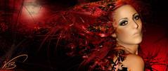 Red (vickileaboulter) Tags: red portrait woman art amsterdam digital photoshop studio photography design shoot nps creative award photographic imagination rps avant garde winning swpp