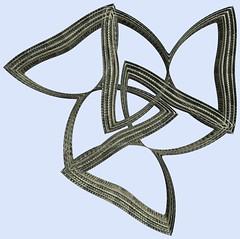 3 Tori / 3つの輪環(りんかん) (TANAKA Juuyoh (田中十洋)) Tags: torus 輪環 りんかん ドーナツ どーなつ mathematica 3d cg parametricplot3d texture code program algorithm abstruct graphic design pattern structure mapping figure プログラム コード アルゴリズム テクスチャ マッピング 模様 もよう 抽象 ちゅうしょう アブストラクト グラフィック グラフィクス パターン デザイン 意匠 いしょう 構造 こうぞう 図形 ずけい symmetry 対称性 たいしょうせい シンメトリー 対称 たいしょう