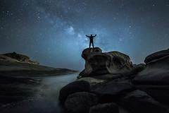 contemplant la nit (tofercu) Tags: mar costabrava maig 2015 vialactea nitgh contemplaci roquesplanes tonifernandez nitsea