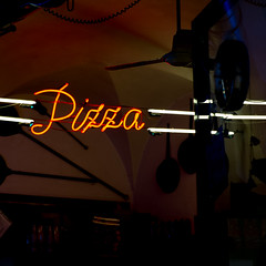 Pizza (Jeremy Brooks) Tags: italy neon it tuscany siena toscana camera:make=fujifilm camera:model=xpro1