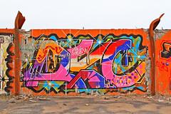 Mellan två balkar 2 (Quo Vadis2010) Tags: art tom painting graffiti se ruins paint grafitti message sweden empty konst doodle graffitti expressive scrawl lonely sverige solitary revolt scribble halmstad tegel disrepair klotter halland industri industrialruins unoccupied ödslig måla målning bostäder rivning förfall övergiven bruk kludd väggmålning budskap slottsmöllan abandonedruin tegelbruk spraya meansofexpression affärer självförverkligande enslig övergivenindustri industriiförfall municipalityofhalmstad formerbrickworks youthrevolt halmstadkommun norrainfarten wayofexpressingoneself uttrycksform sättattuttryckasig ungdomsrevolt synliggörande industryindisrepair föredettategelbruk underrivning kommandebostadsbebyggelse spreja konstnärligayttringar slottsmöllansbruk