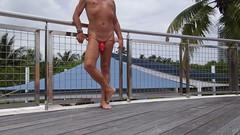 red g net rail 4 (bmicro2000) Tags: man male cock ring tiny gstring rocket manthong minimalswimwear microkini microbeachwear