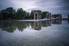 Temple of Debod (Egyptian monumnet) - The City of Madrid (Christine's Observations) Tags: madrid from old city travel monument reflections lens temple this was is amazing spain europe long break cathedral you or great phillips royal happiness palace christine here have explore pack your gift views egyptian be sure include recently debod the egyp