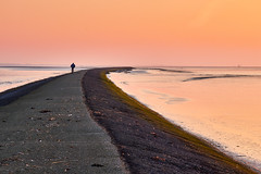 road to nowhere (alebakker) Tags: bike sunrise canon dam wad dike goldenhour 100d
