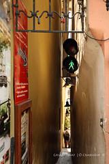 Enter on Green (9O6A3890_1) (Wonder Westie) Tags: prague street crabhin sencrabhin canon canoneos5dmarkiii canoneos city pedestrians pedestrian pedestrianwalkway lights
