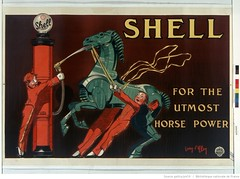 1926. Shell - for the utlost horse power (Library ABB 2013) Tags: english poster shell bnf nationallibraryoffrance bibliothquenationaledefrance 1926