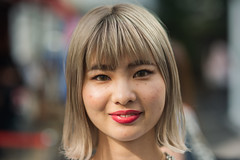 Tako (Jon Siegel) Tags: portrait woman cute girl beautiful beauty fashion japan asian japanese tokyo cool nikon asia pretty afternoon 14 85mm style harajuku blonde redlipstick lipstick nikkor stylish tako contactlenses harajukugirl 85mmf14 d810