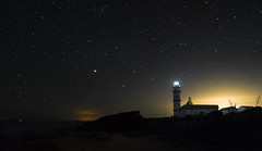 Lighthouse at Faro Ses Salines (sffbigmac) Tags: sky night stars lighthouse leuchtturm sterne sony a6000 astronomy space weltall nightscape astronomie galaxy galaxie