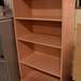 Tall beech open bookcase