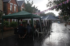 The weather was, uh, changeable! (turini2) Tags: road birthday street party june her 90th queen woodside majesty 2016
