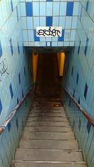 Exist (jmaxtours) Tags: toronto stairs entrance down tiles staircase downtowntoronto exist bluetiles