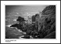 Crown Mines (Chalky666) Tags: sea cliff seascape rock landscape tin mono mine enginehouse