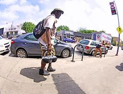 Empire (kirstiecat) Tags: street music man austin texas shadows stranger empire boombox lonestar fisheyelens