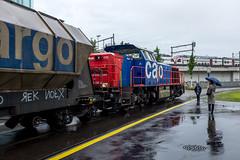 Shunting the mill: What is this (4/5) (jaeschol) Tags: switzerland railway fujifilm locomotive zrich ch kreis5 shunter diesellocomotive hardbruecke kantonzrich stadtzrich swissmill dieselhydrauliclocomotive am843 x100s shuntingzrich am843095