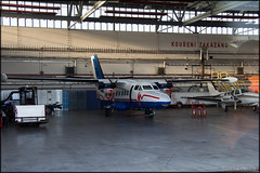 OK-WYI - Let L-410 UVP-E Turbolet (Pavel Vanka) Tags: czech prague hangar praha czechrepublic propeller let turboprop calibra passengerplane l410 turbolet praharuzyne lkpr uvpe kalibra okwyi
