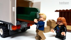 Moving Day (Kadigan Photography) Tags: truck moving lego sofa boxes minifigure