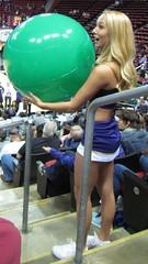 Waiting to toss ball (bulgo125) Tags: college uw washington huskies cheerleader